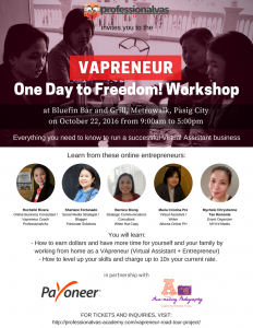 VAPreneur One Day To Freedom Workshop